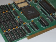 Close up of the Commodore A 2091 hard disk and memory controller.