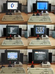 Loading a game on the C64 DTV-1.