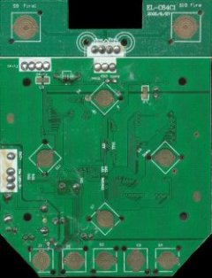 Bottom view of the PCB of the C64 DTV-2.