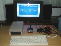 C64 - DTV2 with IEC, keyboard and joysticks.