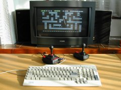 Pac Boulder on the C64-DTV.