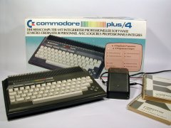 Commodore Plus/4, with original packaging.