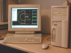 Designing the Xtreme Commodore Logo with a CAD programm.