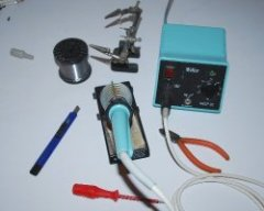 Tools for building a X1541 cable.
