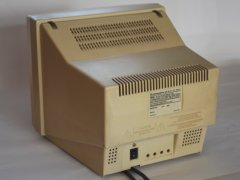 The rear side of the Commodore 1402 monitor.