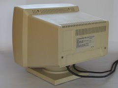 The rear side of the Commodore 1403 monitor.