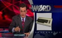 A Commodore C64 computer in The Colbert Report.