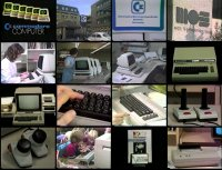 A Commodore 8032-SK, VC-1020, C64, 1530, MPS-802, VIC-1541, Silver label C64, VIC-1311, VIC-1312, 1520, VIC-1011A in the Commodore Promo Video.