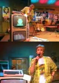 A Commodore C64 in the TV-show Countdown.