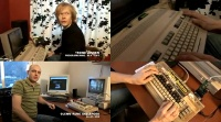 An Commodore C64 and C128 computer, a 1084 monitor and a Retro Replay in the TV program Lydverket.
