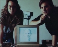 A Commodore 2002 monitor in the making of: The Return of the Living Dead.