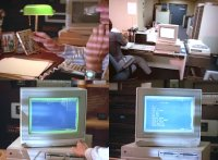 A Commodore Amiga 2000 computer and a 2002 monitor in the movie No Retreat, No Surrender 3: Blood Brothers.