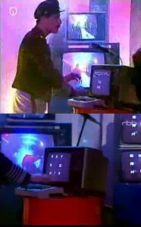 A Commodore C64 Computer in a performance from Novo with their song Extremix.