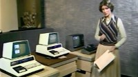A Commodore PET 2001 (Blue) in the TV program Pebble Mill at One.