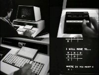 An Commodore PET 2001 computer in the Polygoon Journaal.