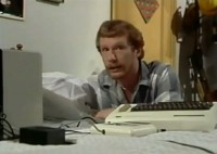 A Commodore VIC20 computer and a C2N Datassette in the TV series: The Sooty Show.