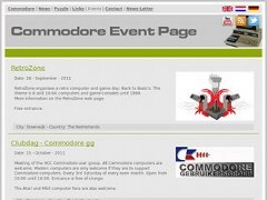 Commodore Event Page